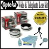 Opteka .45x Wide Angle & 2.2x Telephoto HD2 Pro Lens Set for Canon PowerShot G9 and G7 Since it fits right over your camera's existing lens system, a wide-angle and telephoto converter affects the full zoom range of your camera's lens. A wide-angle converter increases your angle of view - scenes include more of the landscape, groups include more people, and interiors show more of the room. A .45x wide-angle converter DOUBLES your angle of view, allowing you to get twice as much in the picture (AND your telephoto setting also becomes wider; not zooming in as close). A 2.2x converter will double your camera's maximum focal length, bringing things twice as close. An Opteka conversion lens can actually improve the image that your digital camera receives, and it's about the only accessory that can. By eliminating flare and ghosting, the ugly cousins of reflection and refraction, before they get to your camera's original lens system, your camera gets a much cleaner image to digitize. Plus, an Opteka converter allows you to use a more optimal part of your original lens system, resulting in more crisp imagery. Nothing changes the way you see the world like High Definition II, and no company does High Definition II like Opteka. In the professional setting, Opteka's glass optics define High Definition. Change the way you view the world. Enjoy outstanding detail, enjoy enhanced clarity and enjoy Opteka. With an Opteka 5 piece Lens/Camera cleaning kit it contains everything you need to maintain your Digital Camera! It cleans hard to reach lenses, protects battery contacts, and is very easy and safe to use. Works excellent for lenses, cameras, filters, and it also easily cleans LCD panels. The lens cleaning solution is specially made for removing oil and dirt. The Opteka table top tripod is ideal for backyard observation or anywhere - an ultra-compact tripod is all you need! Opteka lenses are covered by a lifetime warranty.