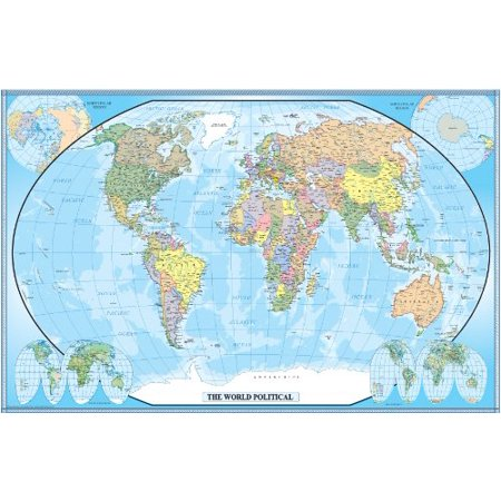 76x120 world classic wall map wallpaper mural for Classic world map wall mural