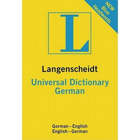 Langenscheidt Universal Dictionary: German (The Best German Dictionary)