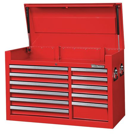 WESTWARD Top Chest,41-7/16x18-5/8x26-7/8 in.,Red 32H839