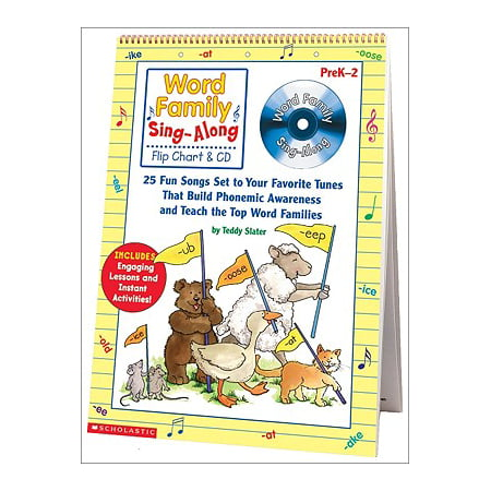 Word Family Sing-Along Flip Chart & CD : 25 Fun Songs Set to Your Favorite Tunes That Build Phonemic Awareness and Teach the Top Word Families (Top Fun Halloween Songs)