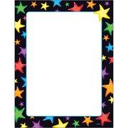 Trend, TEPT11413, Gel Stars Border Paper, 50 / Pack, Assorted,White
