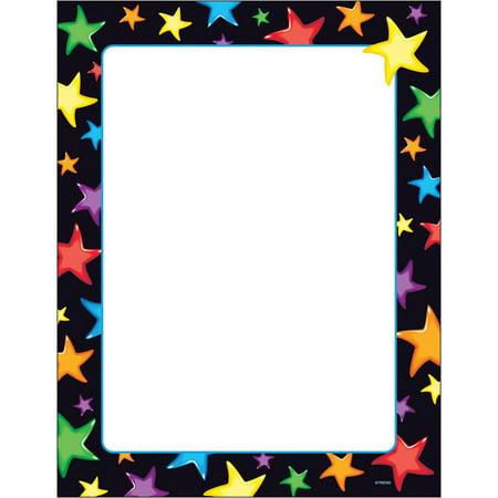 Trend, TEPT11413, Gel Stars Border Paper, 50 / Pack, Assorted,White (Halloween Border Paper)