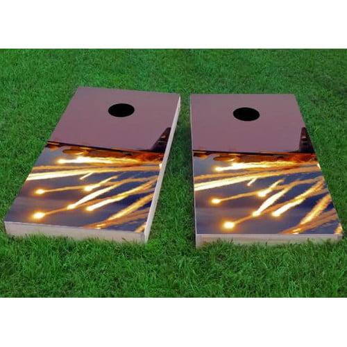 Custom Cornhole Boards AC130 with Flares Cornhole Game (Set of 2) by Custom Cornhole Boards