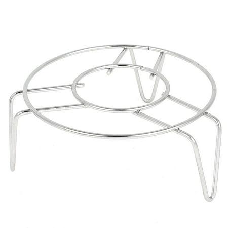 - Kitchen Cookware 12cm x 5cm Stainless Steel 3 Legs Cooker Food Steam Rack