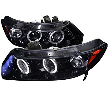 Spec-D Tuning Honda Civic Coupe 2006 2007 2008 2009 2010 2011 LED Halo Projector Headlights - Black