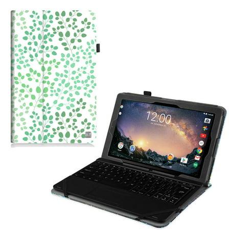 """RCA 11 Galileo Pro11.5"""" Tablet Case (RCT6513W87DK C)- Fintie Premium Vegan Leather Folio Stand Cover, Love Tree"""