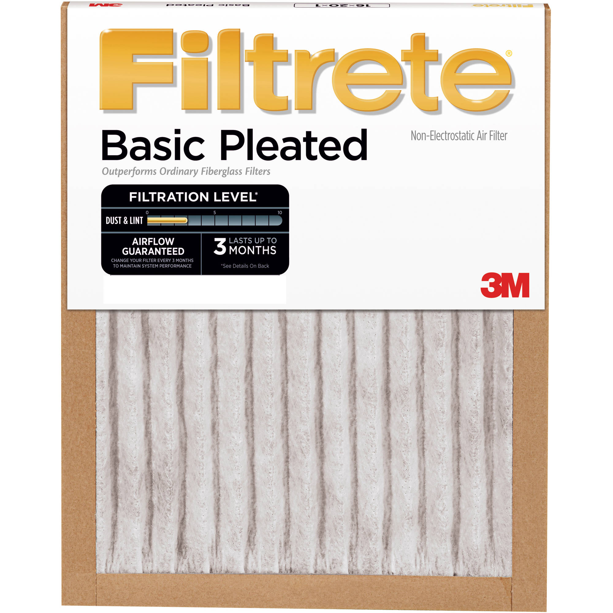 filtrete basic pleated air and furnace filter, available in multiple ...