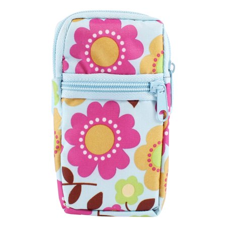 Unique Bargains Fuchsia Light Blue Sunflowers Printed Elastic Wrist Band Mobile Phone Bag Pouch](Sunflower Bag)