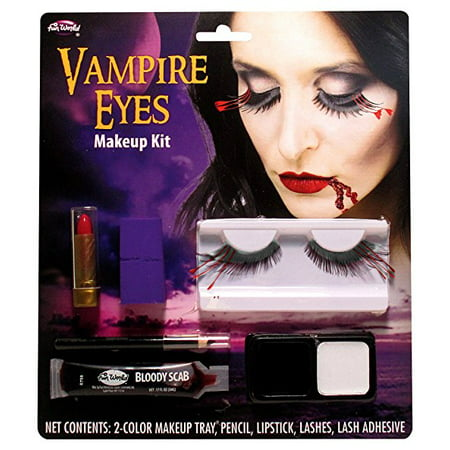 Lashes Vampire Halloween Makeup Kit (Amazing Face Art For Halloween)