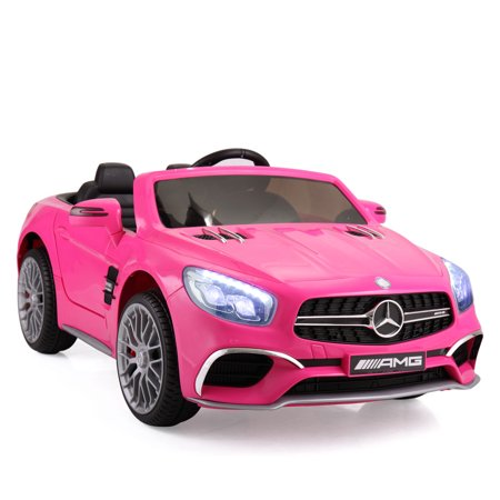 Jaxpety 12V Mercedes-Benz SL65 Electric Kids Ride On Car RC Remote Control Christmas Gift,Rosy Mercedes Benz 500sl