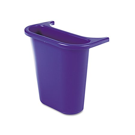 Rubbermaid Commercial Wastebasket Recycling Side Bin, Attaches Inside or Outside, 4.75qt, Blue