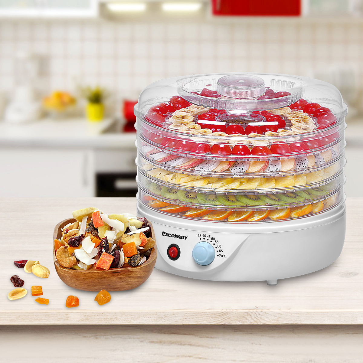Excelvan 5-Tray Electric Food Dehydrator by Excelvan