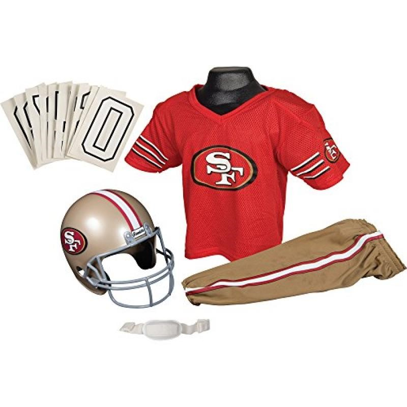 Caseys Distributing 2572528962 San Francisco 49ers Football Deluxe Uniform Set- Size Small