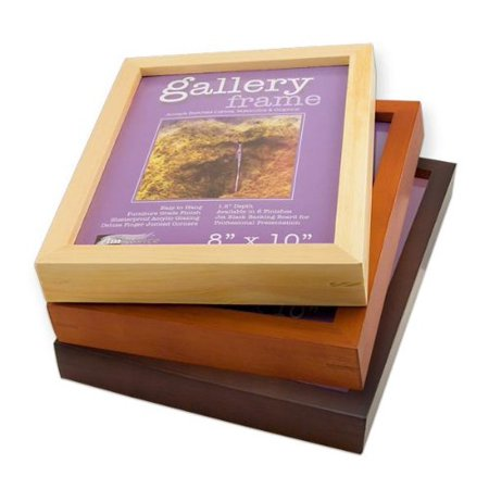 Ambiance Gallery Wood Picture Frame for Stretched Canvas, Artist Panels and Art Boards [Single Frame] 11x14