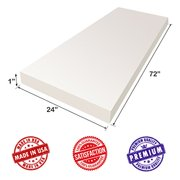 """Upholstery Foam Cushion Sheet- 1""""x24""""x72""""-Regular Support Density-Premium Luxury Quality- Good for Sofa Cushion, Mattresses, Wheelchair, Poker Table, and Much More- Dream Solutions USA"""