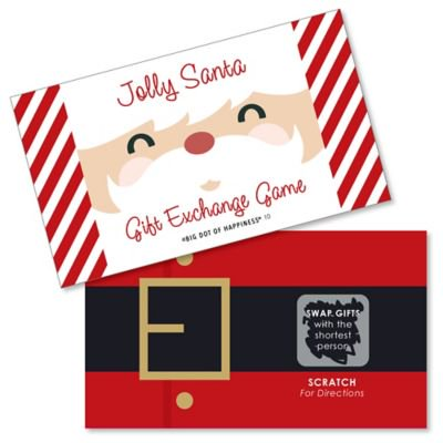 Jolly Santa Claus - Christmas Party White Elephant Gift Exchange Game Scratch Off Cards - 22 Count ()
