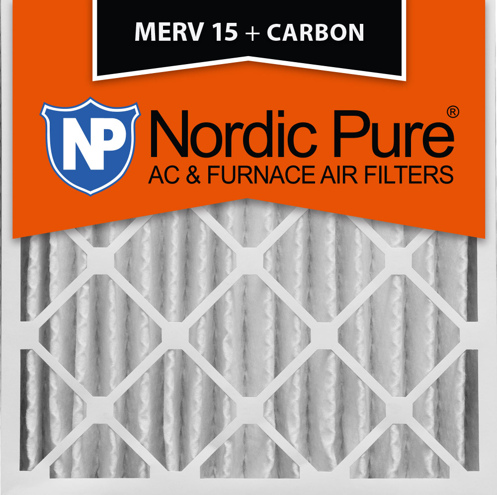 20x20x4 (3 5/8) pleated air filters merv 15 plus carbon qty 1 ...