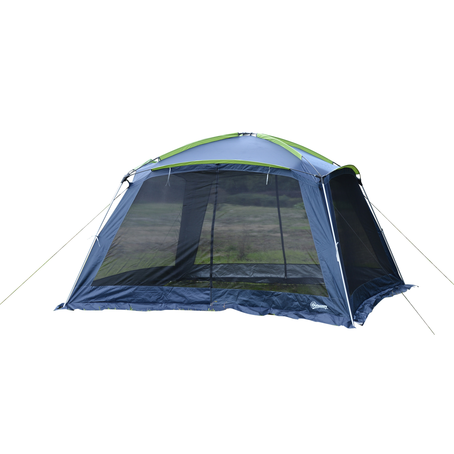 Outsunny 12 x 12 Mesh Portable Outdoor Screen House Shelter Dark Blue by Outsunny