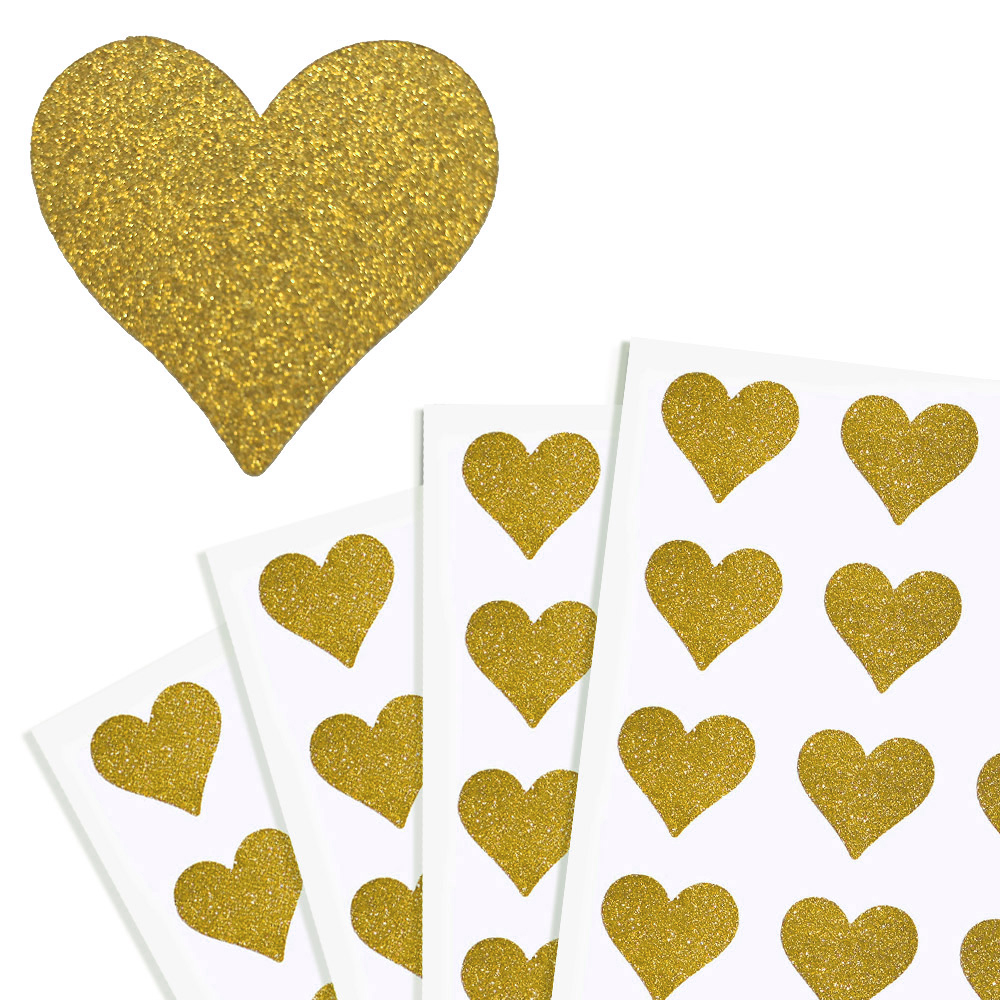 Royal Green Metallic Gold Hearts Stickers 1//2 inch Shiny Gold Labels for Arts Crafts and Scrapbooking 13mm Party Supplies 0.5 inch - 1250 Pack