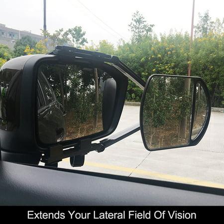 Trailer Towing Dual Mirror Universal Clip-on Trailer Wing Mirror Extension Towing Mirror Glass for Car Caravan Trailer - image 4 of 7