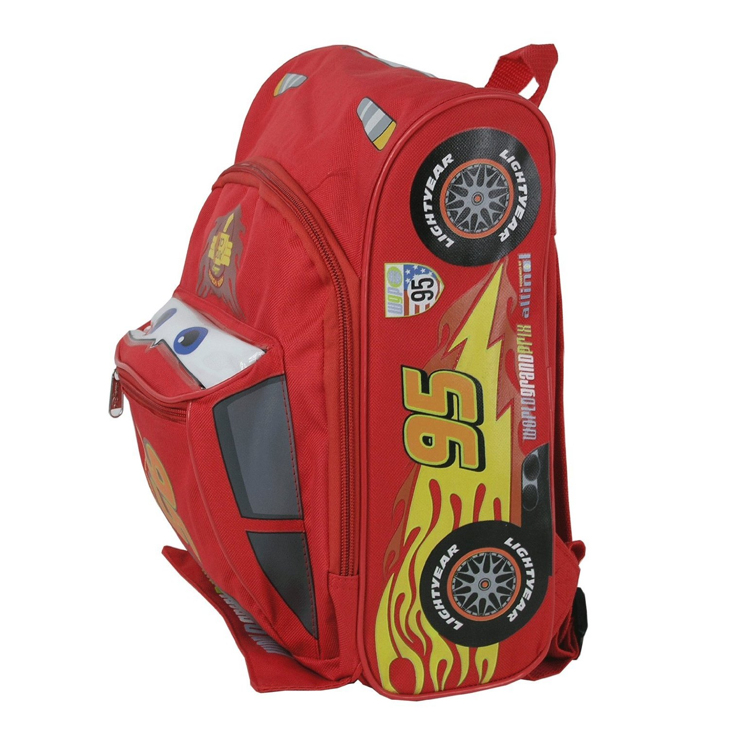 "Small Backpack - Disney - Cars 2 - Lightning Mcqueen 12"" New Book Bag 603670"