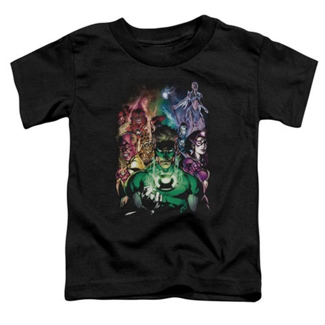 Trevco Green Lantern-The New Guardians Short Sleeve Toddler Tee, Black - Large 4T
