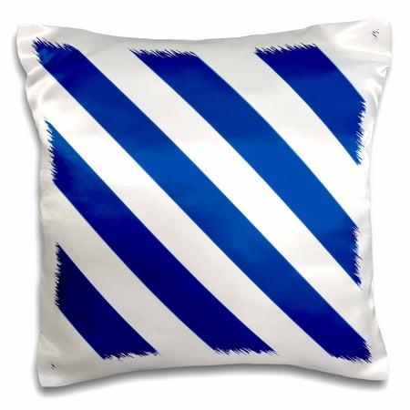 3dRose Navy blue and white diagonal candy stripes pattern - stripy striped stripey monochrome - nautical - Pillow Case, 16 by (Polished Diagonal Stripe)