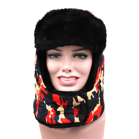 Adults Winter Keep Warm Hat Bionic Thermal Camouflage Cap Ear Protect with the Respiration Valve for Hunting Outdoor Sport