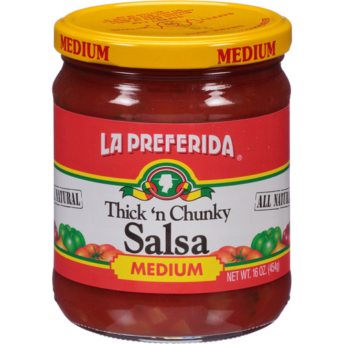La Preferida Medium Thick 'n Chunky Salsa, 16 oz, (Pack of 12)