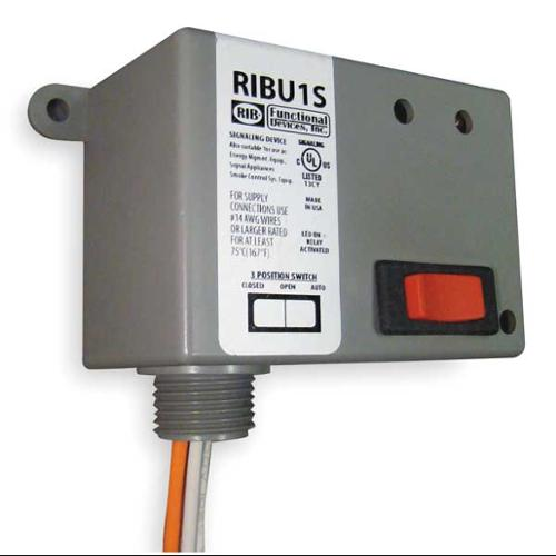 FUNCTIONAL DEVICES INC / RIB RIBU1S Enclosed Pre-Wired Relay, SPST, 10A@277VAC