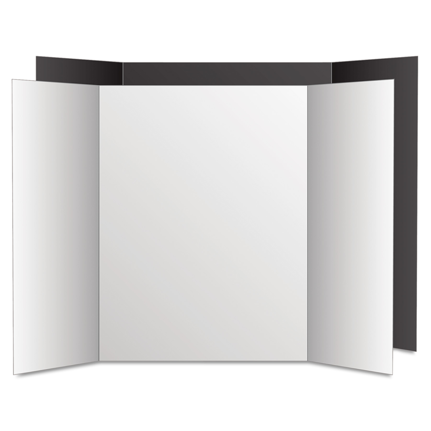 eco brites too cool trifold poster board 36 x 48 black