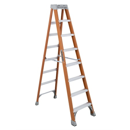 Louisville Ladder 8-foot Fiberglass Step Ladder, 8 ft x 24 7/8 in, 300-pound Capacity