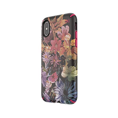 Speck Presidio Inked For Iphone Xs X Digitalfloral Cerise Red 117136-7557