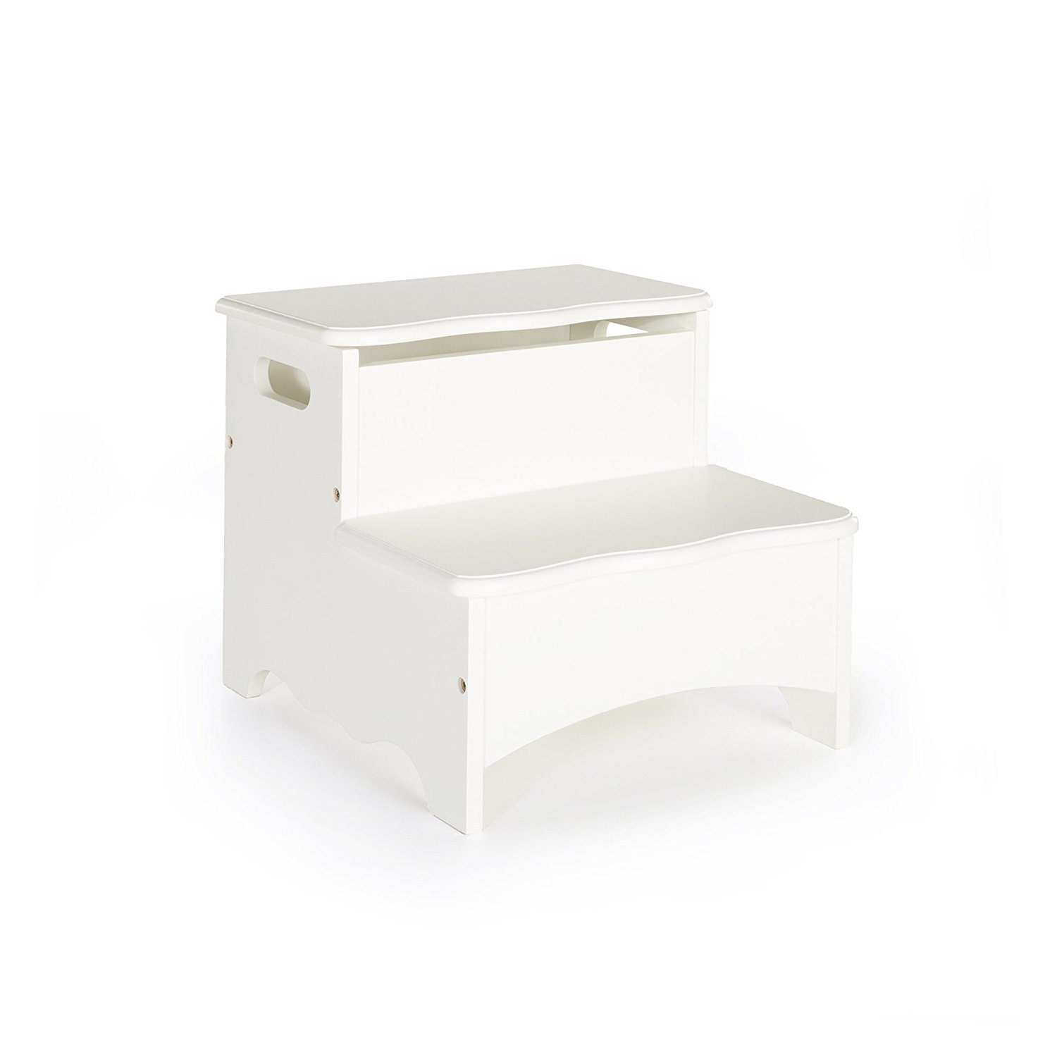 Guidecraft Classic White Step-Up Toy Storage Stool Kids Furniture by Guidecraft