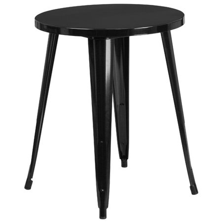 Flash furniture 24 39 39 round metal indoor outdoor table multiple colors - Table jardin metal ronde brest ...