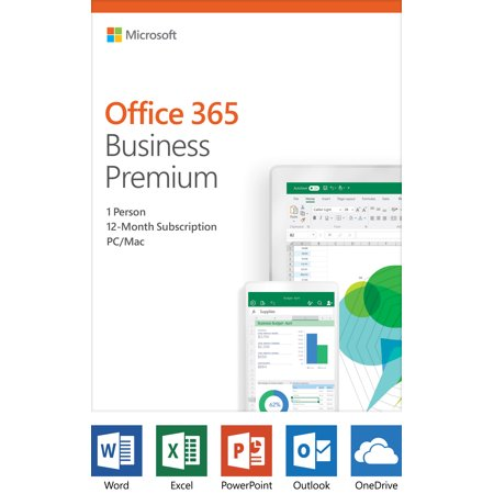 Microsoft Office 365 Business Premium | 12-month subscription, 1 person, PC/Mac Key