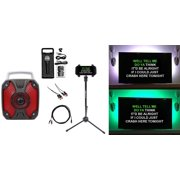 RockBox Home Karaoke Quarantine Family Activity Singing Machine w/LED's