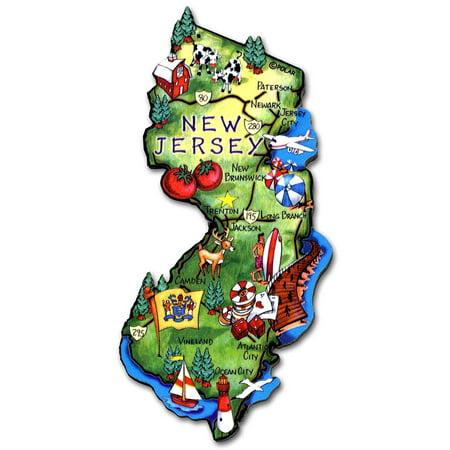 New Jersey the Garden State Artwood Jumbo Fridge Magnet ()