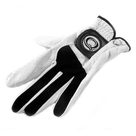 NEW Quality Sport Tour Cabretta White Black Leather Glove Men's Small ()