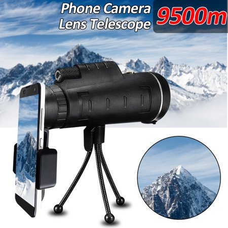 40X60 High Power Compact Monocular Telescope HD Dual Focus Scope w/Cell Phone Holder +Tripod Mount, Waterproof for Hunting Bird Watching Valentine's