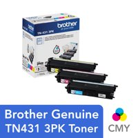 Brother Genuine Standard-Yield Color Toner Cartridge Three Pack TN431 3PK -includes one cartridge each of Cyan, Magenta & Yellow Toner