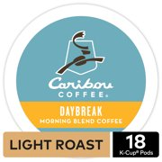 Caribou Coffee Daybreak Morning Blend K-Cup Pods, Light Roast, 18 Count for Keurig Brewers