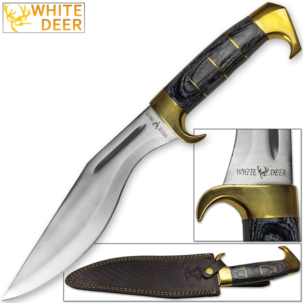 WHITE DEER MagNUM Kukri Jungle Machete Knife HC Stainless FULL TANG 16.5in by White Deer