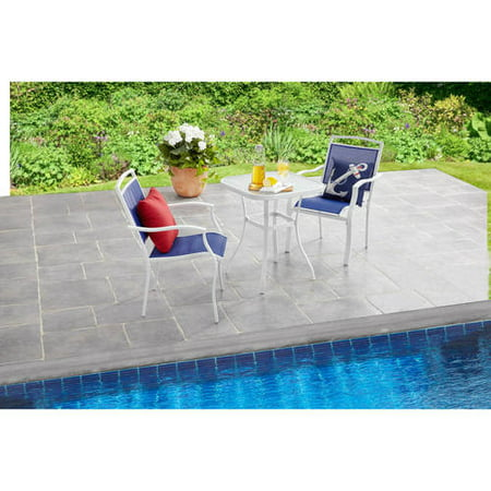 Mainstays Sand Dune 3-Piece Outdoor Bistro Set, Blue ()