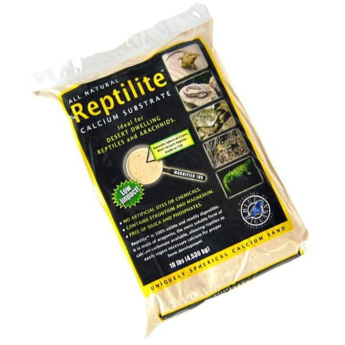 Blue Iguana Reptilite Calcium Substrate for Reptiles Aztec Gold 40 Pounds (4 x 10 Pound Bags) by Acme