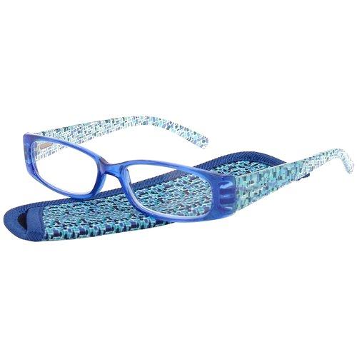 Foster Grant Women's Plastic Reading Glasses, Iliana Blue