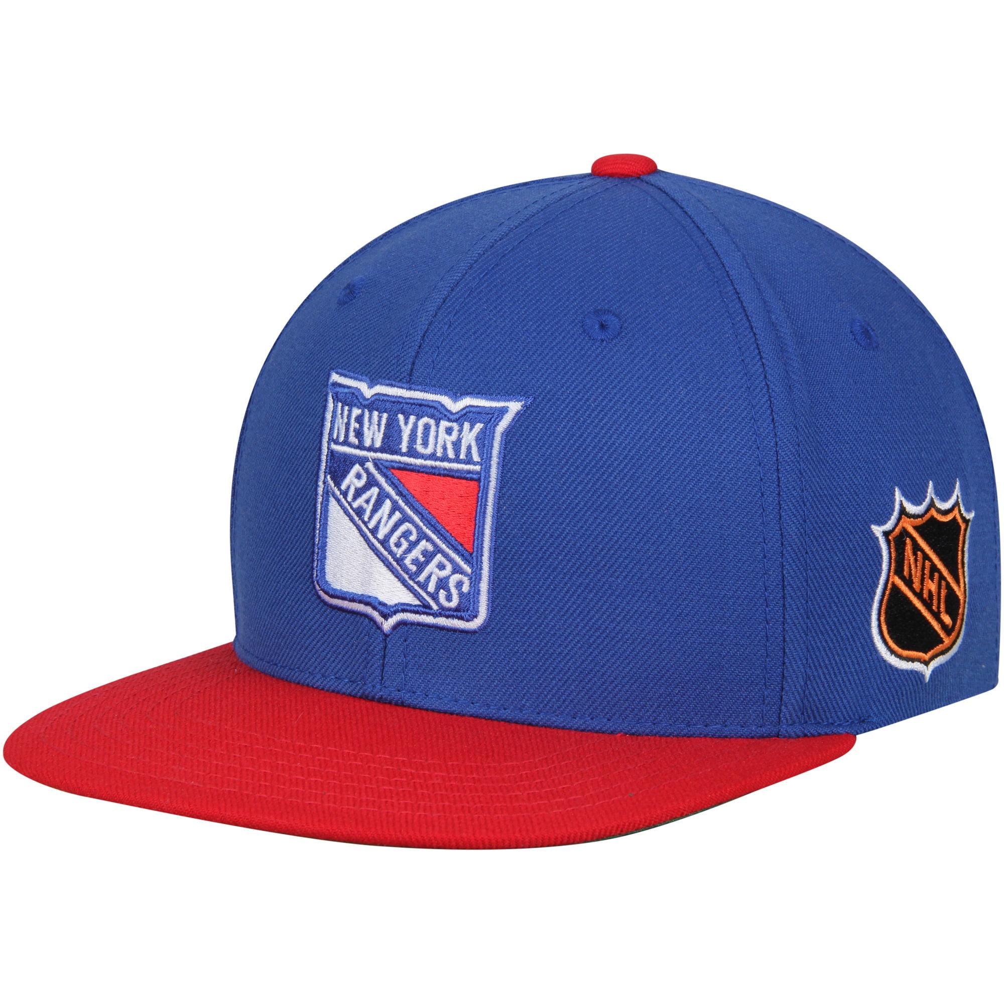 New York Rangers American Needle Blockhead Snapback Adjustable Hat - Blue/Red - OSFA