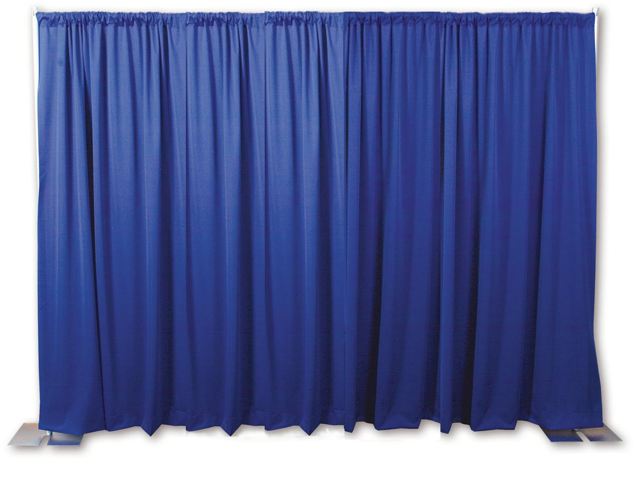 Premier Portable Pipe and Drape Backdrop Kit 8ft x 10ft (Royal Blue Drapes) by OnlineEEI