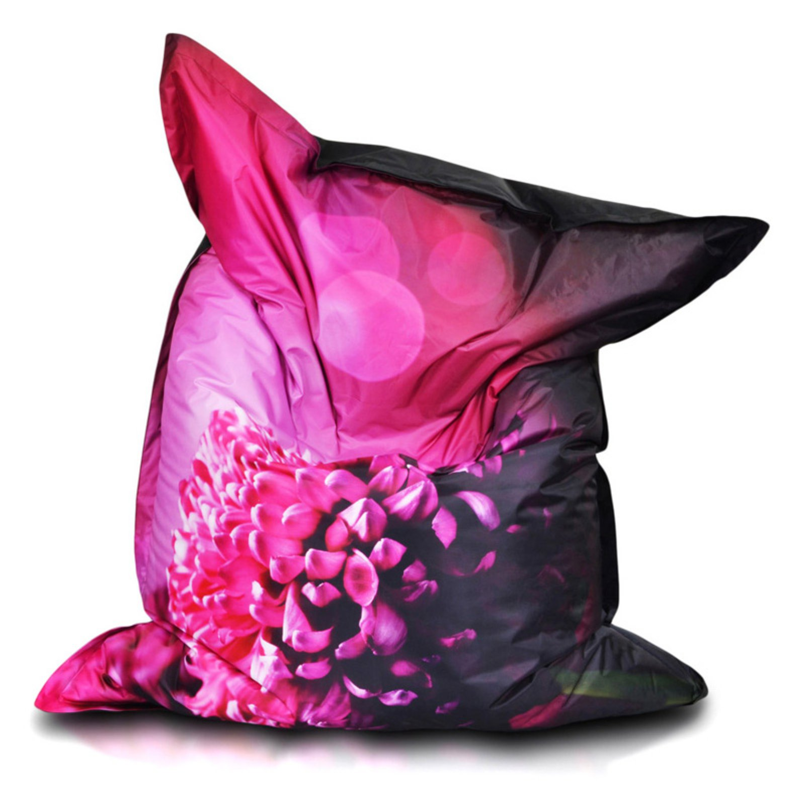 Turbo Beanbags Pillow Style Premium Large Bean Bag Chair - Pink Print